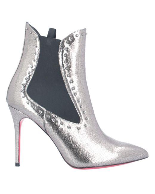 Pinko Metallic Ankle Boots