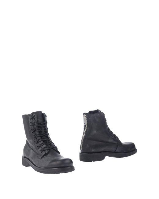 DIESEL Black Ankle Boots for men