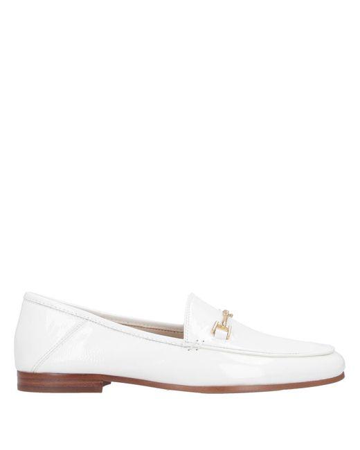 Sam Edelman White Loraine Loafers