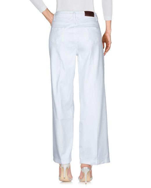 Pantalon en jean ..,merci en coloris White