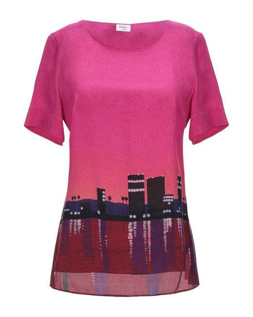 Akris Punto Blusa da donna di colore rosa