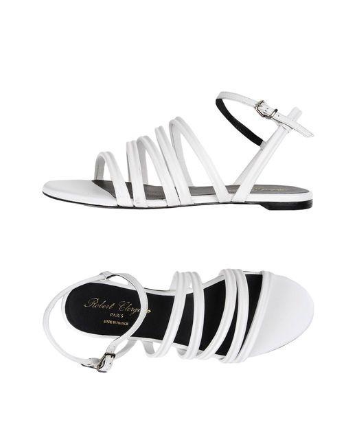 Robert Clergerie White Sandals