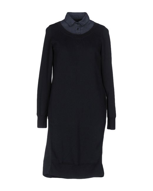 European Culture Blue Short Dress