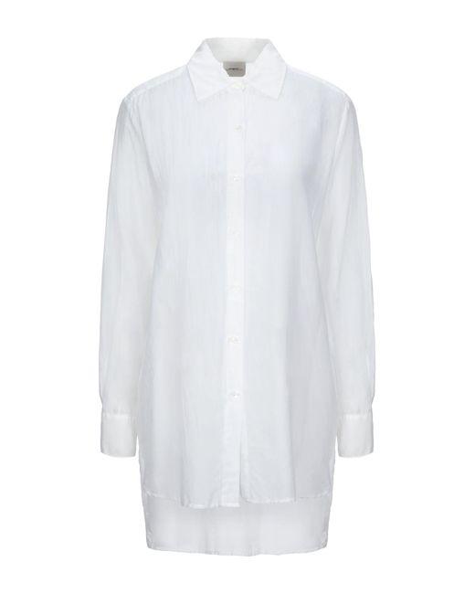 ..,merci Camisa de mujer de color blanco FvB1v