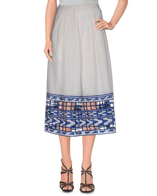 Sea - White 3/4 Length Skirt - Lyst