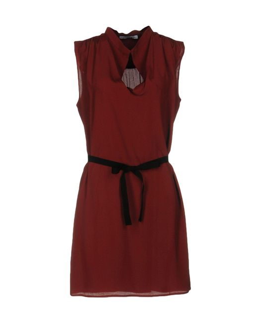 Caractere - Brown Short Dresses - Lyst