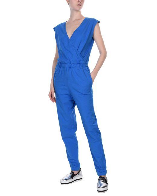 Stefanel - Blue Jumpsuit - Lyst