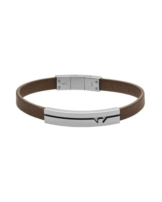 Emporio Armani - Metallic Bracelet for Men - Lyst