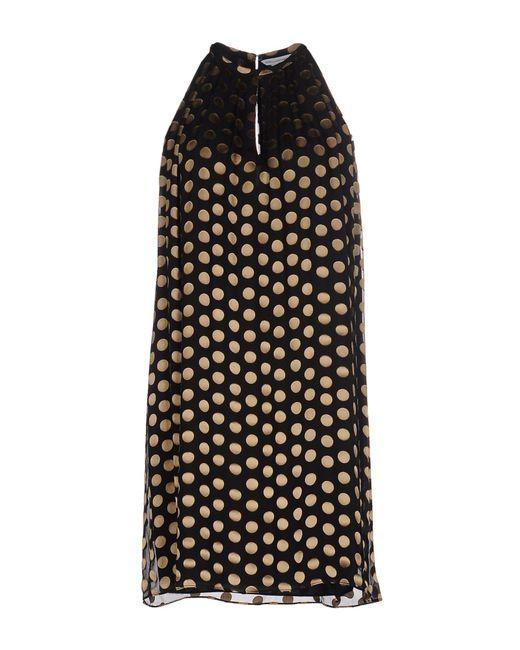 Diane von Furstenberg - Black Short Dress - Lyst