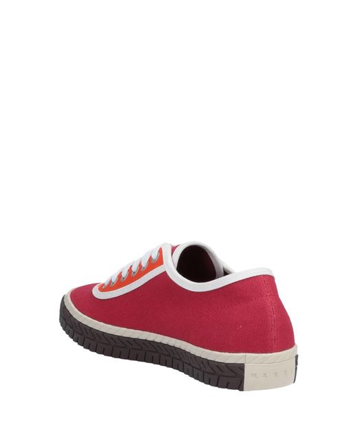 Marni Red Lace Up Sneakers for men