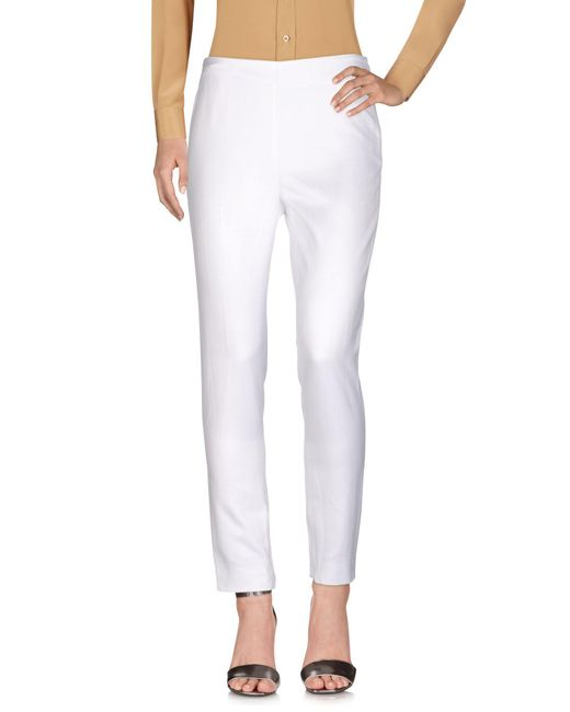 Moschino White Casual Pants