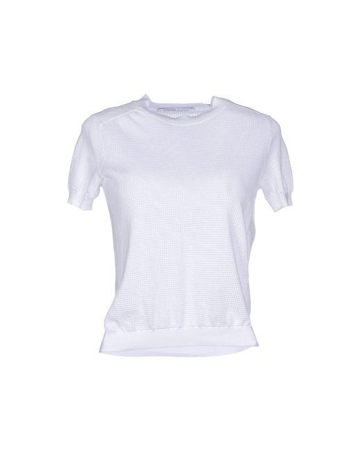 Agnona - White Cardigan - Lyst