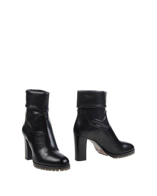Elvio Zanon - Black Ankle Boots - Lyst