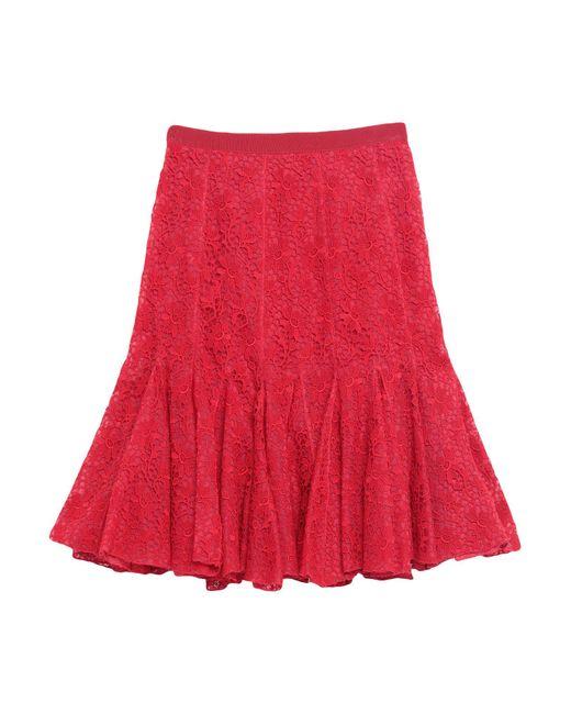 Gonna ginocchio di Giambattista Valli in Red