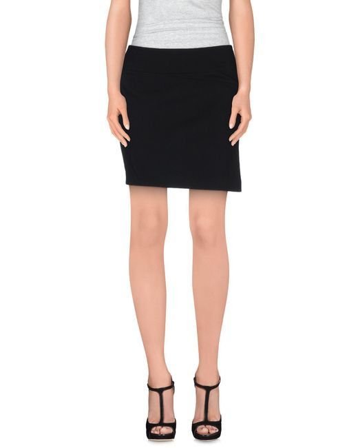 Vince | Black Mini Skirts | Lyst