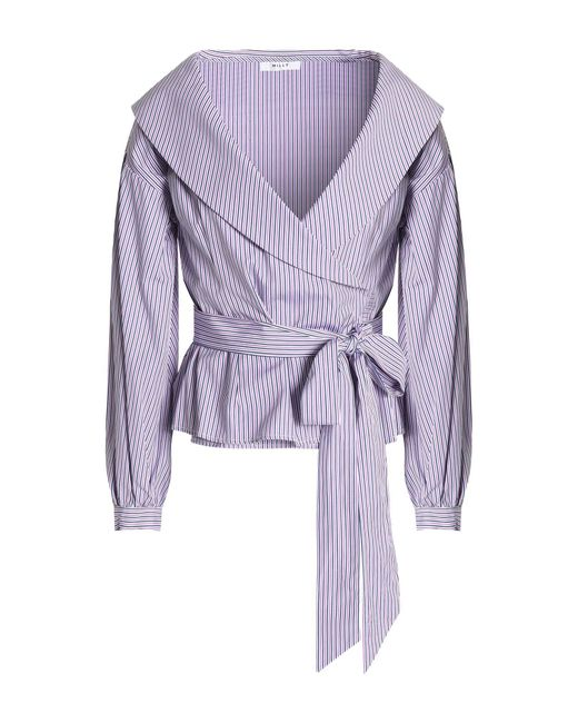 MILLY Purple Blouse