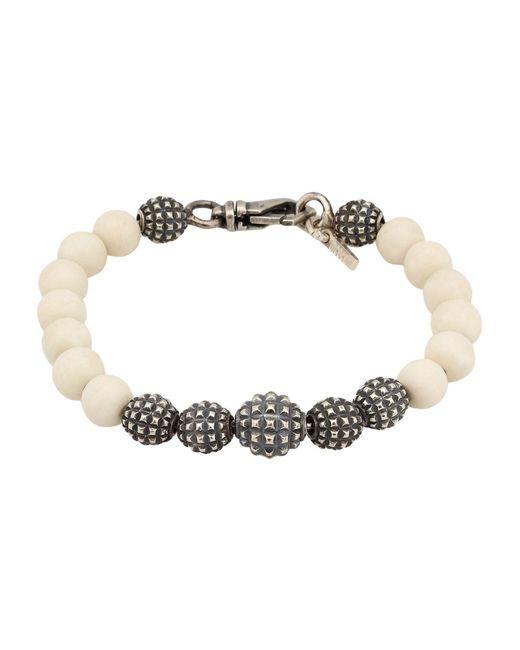 Emanuele Bicocchi - White Bracelet for Men - Lyst