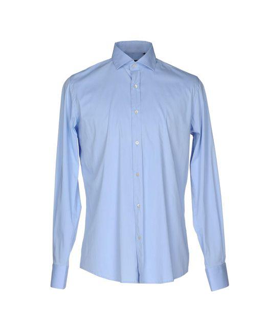 Massimo Rebecchi | Blue Shirt for Men | Lyst