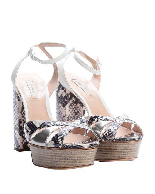 Casadei White Sandale