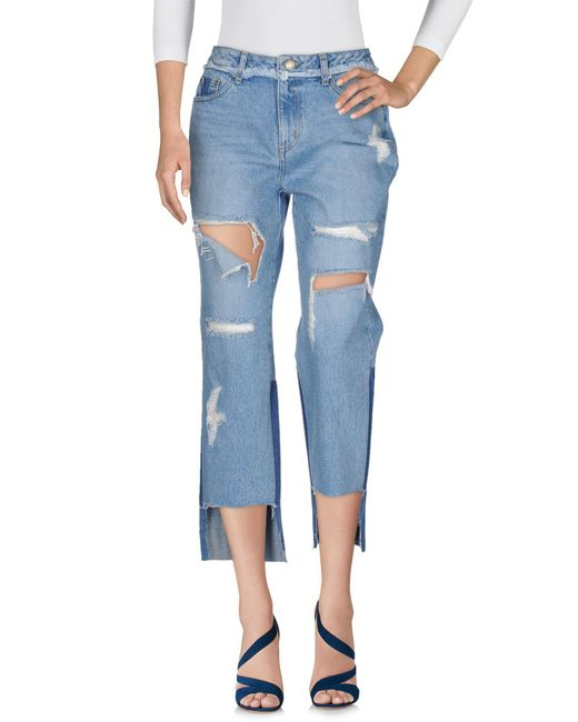 SJYP - Blue Denim Trousers - Lyst