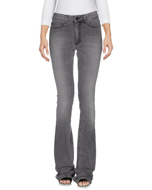 Space Style Concept - Gray Denim Trousers - Lyst