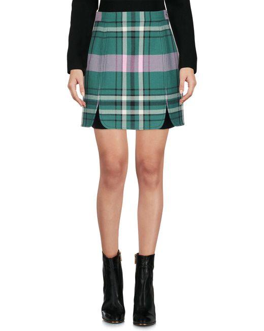 Philosophy Di Lorenzo Serafini - Green Mini Skirt - Lyst