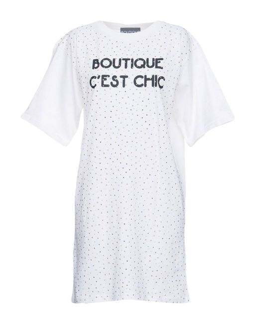 Boutique Moschino - White Short Dress - Lyst