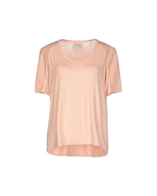 5868e65d7de315 Michelle Mason - Orange T-shirt - Lyst ...