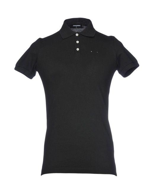 DSquared² - Black Polo Shirt for Men - Lyst