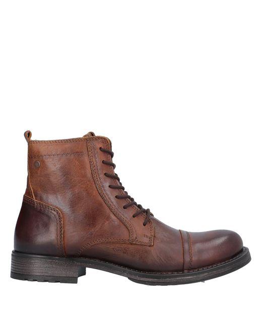 Jack & Jones Botines de caña alta de hombre de color marrón