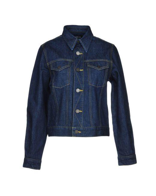 CALVIN KLEIN 205W39NYC Blue Jeansjacke/-mantel