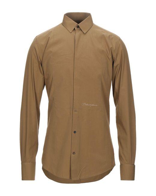 Camicia di Dolce & Gabbana in Natural da Uomo