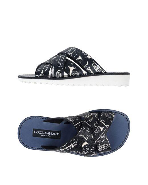 Dolce & Gabbana Black Sandals for men