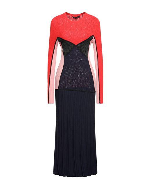 Cedric Charlier Red Long Dress