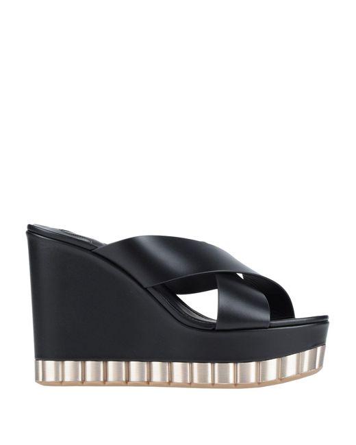 Ferragamo Black Sandale