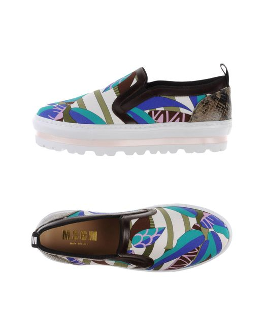 MSGM - White Low-tops & Sneakers - Lyst
