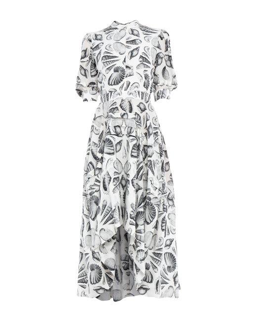 Alexander McQueen White Knielanges Kleid