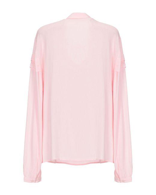 Maje Blusa de mujer de color rosa Lt9Mw