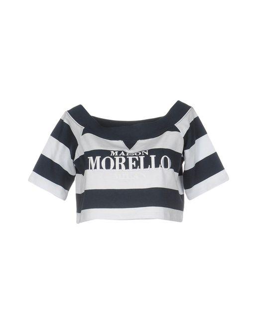 Frankie Morello Blue Sweatshirt