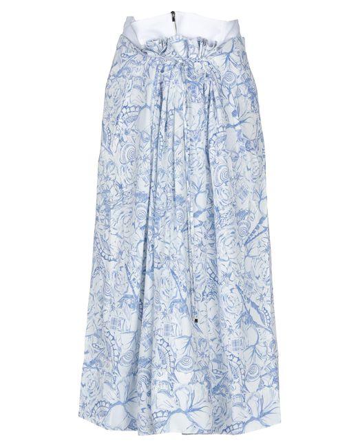 Tibi Blue 3/4 Length Skirt