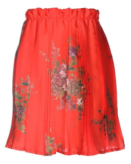 Pink Memories Red Midi Skirt