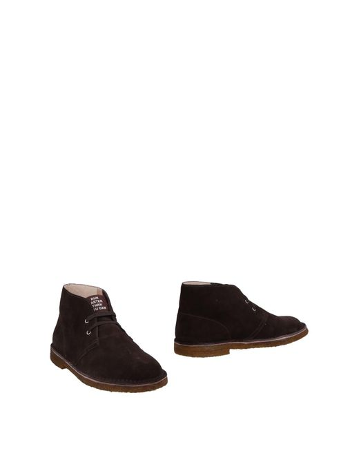Sun 68 - Brown Ankle Boots for Men - Lyst