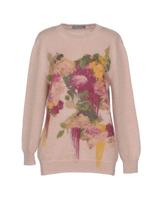 Alberta Ferretti - Pink Sweaters - Lyst