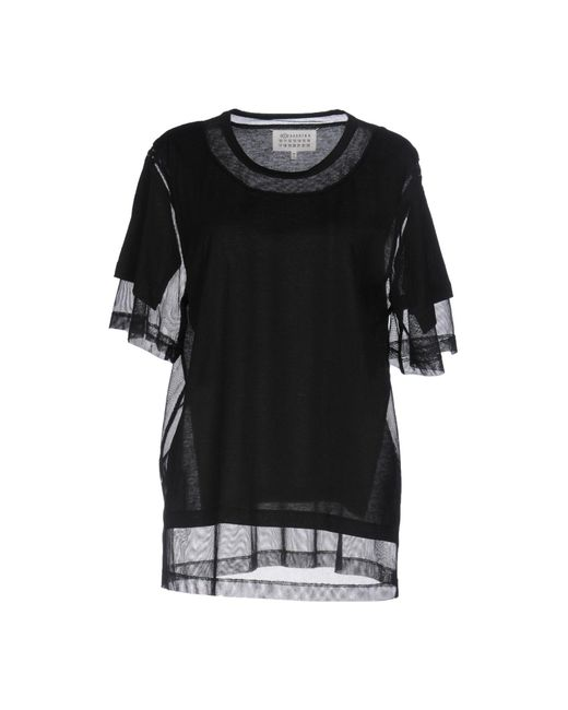 Maison Margiela - Black T-shirts - Lyst