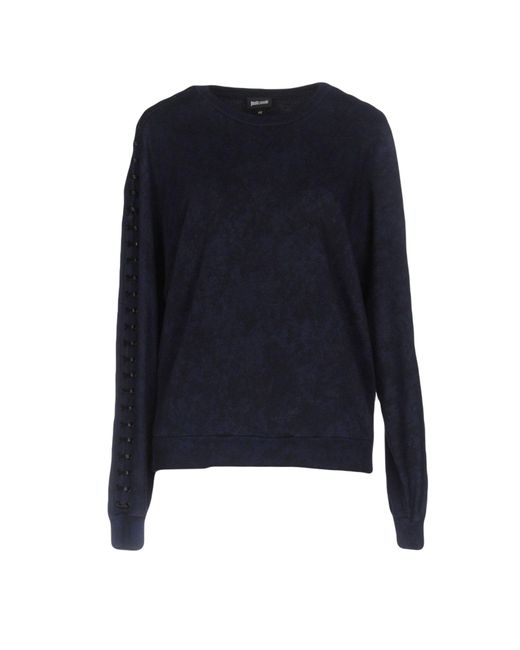 Just Cavalli | Blue Sweatshirt | Lyst