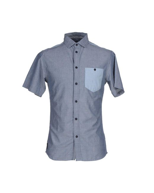 Humor - Blue Shirt for Men - Lyst