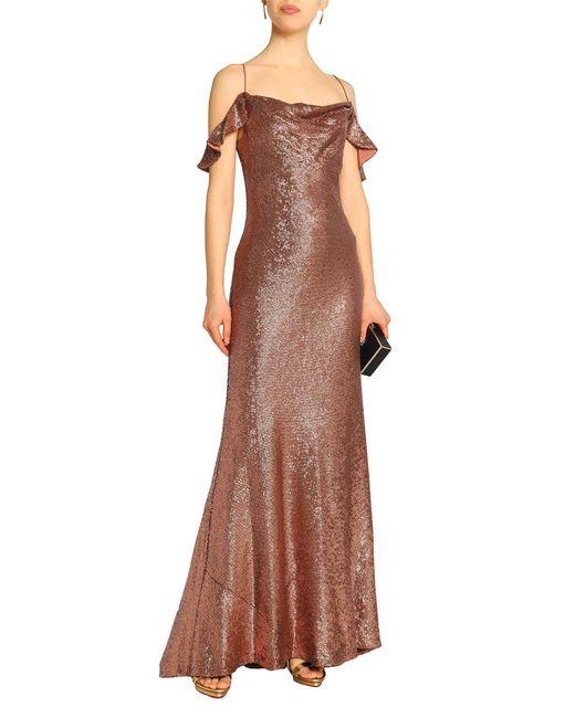 Rachel Zoe Brown Langes Kleid