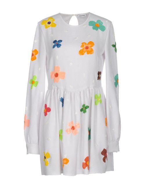 Au Jour Le Jour - White Short Dress - Lyst