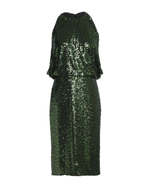 Vestido por la rodilla Badgley Mischka de color Green