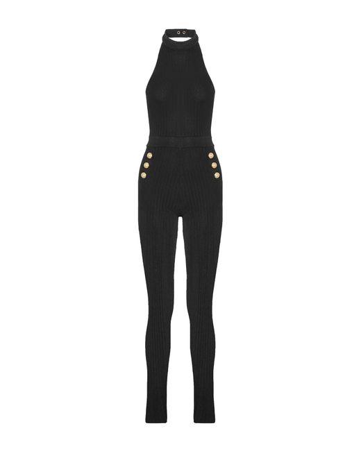 f67c1ea20e6 Balmain - Black Jumpsuit - Lyst ...